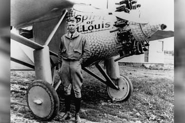 1926 charles lindberg with plane